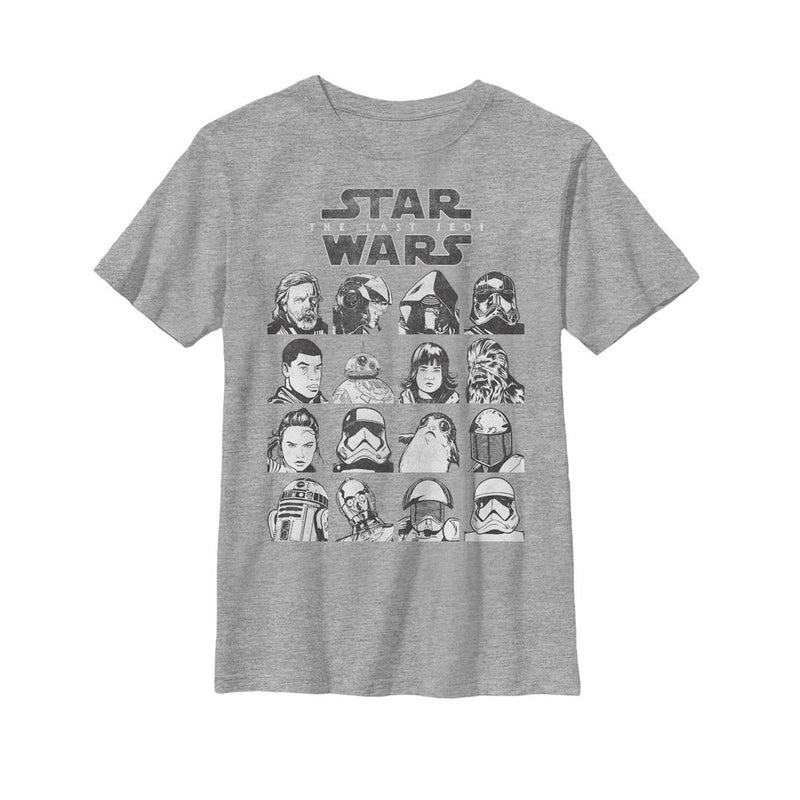 Star Wars The Last Jedi Character Page Boys Graphic T Shirt