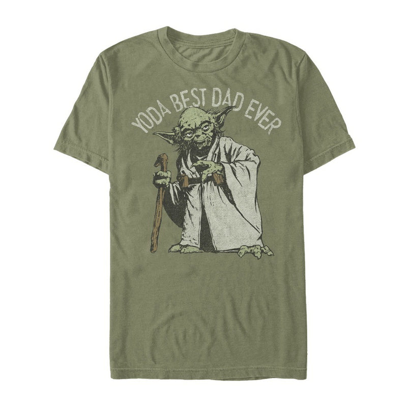 Star Wars Yoda Best Dad Ever Mens Graphic T Shirt