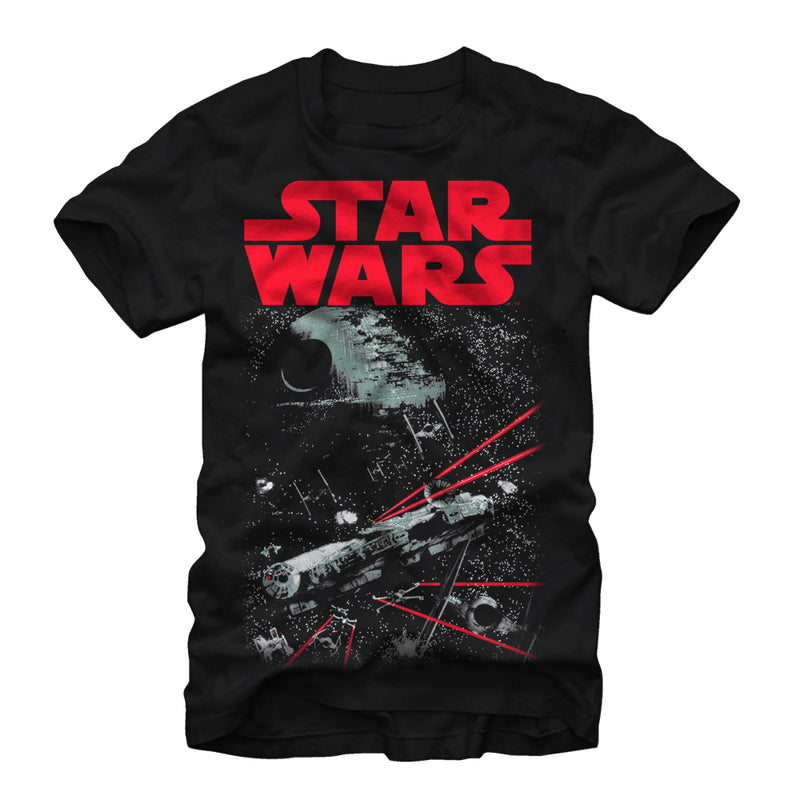 Star Wars Space Fight Mens Graphic T Shirt