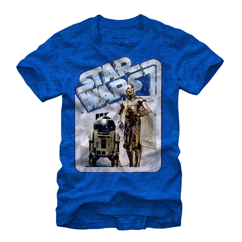 Star Wars Men's Tantive Droids  T-Shirt  Royal Heather  L