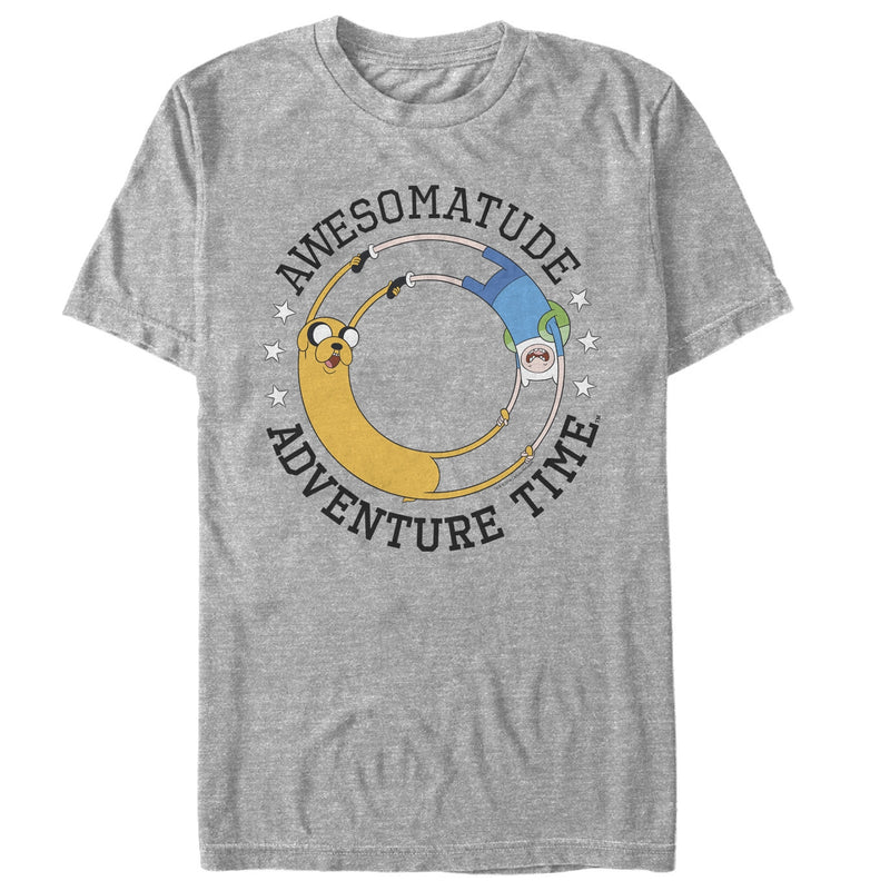 Adventure Time Men's Awesomatude  T-Shirt  Athletic Heather  S