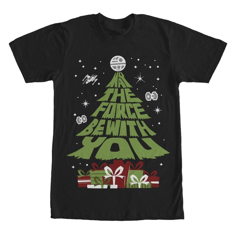 Star Wars May the Christmas Gifts Be With You Mens Graphic T Shirt