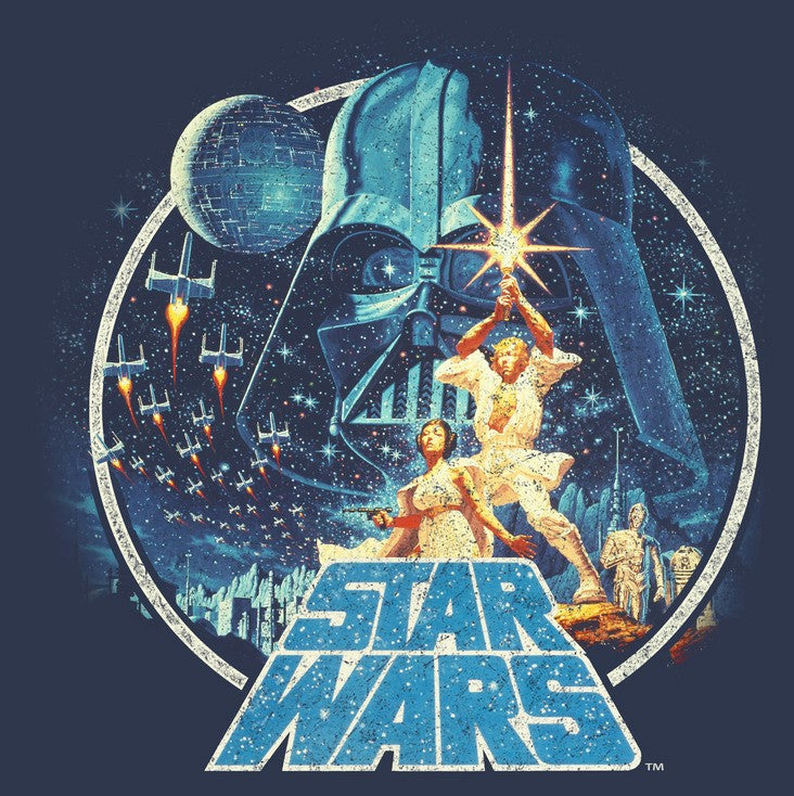 Star Wars Men's Classic Scene Circle  T Shirt
