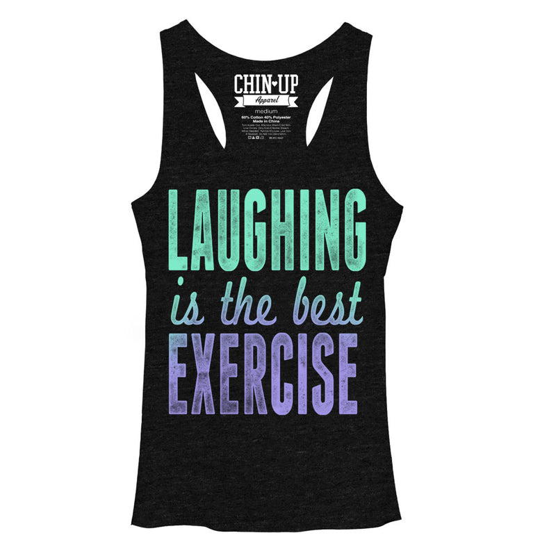 CHIN UP Laughter Womens Graphic Racerback Tank