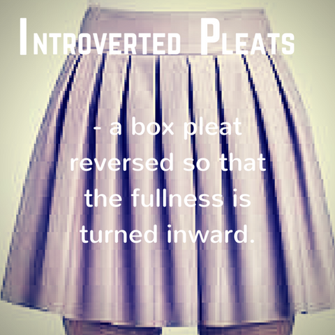 Inverted Pleat - definition, Blue Labels Boutique
