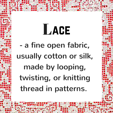 Lace - definition, Blue Labels Boutique