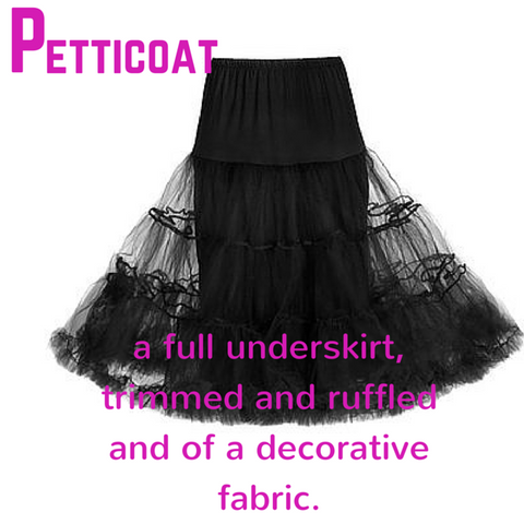 Petticoat - definition, Blue Labels Boutique
