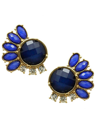 blue homaica stone earrings blue labels boutique