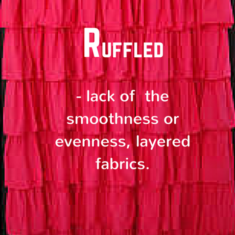 Ruffle - defitnion, Blue Labels Boutique