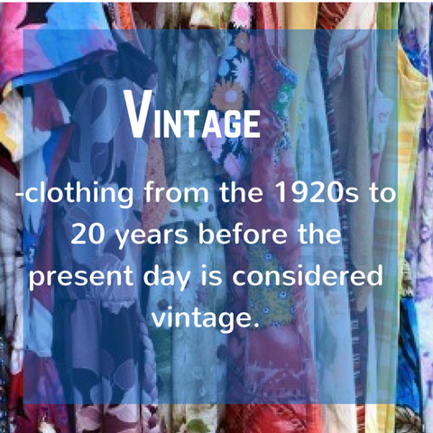 Vintage, definition, Blue Labels Boutique