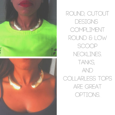The Right Neckline For The Choker, blue labels boutique