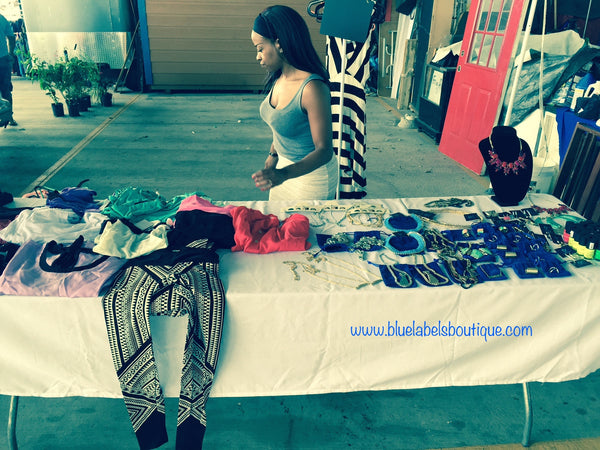 unpacking at open market blue labels boutique