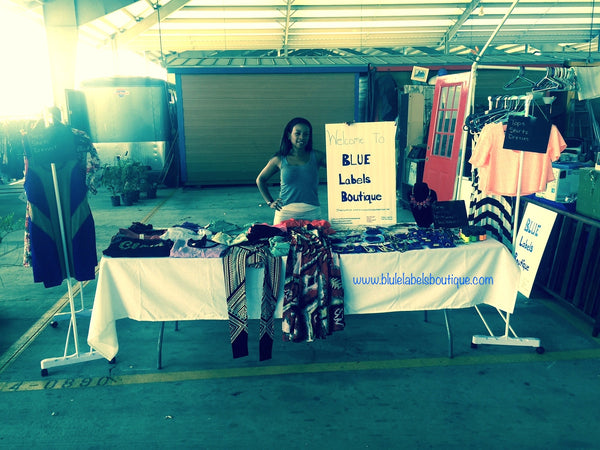 sign up at trade show blue labels boutique