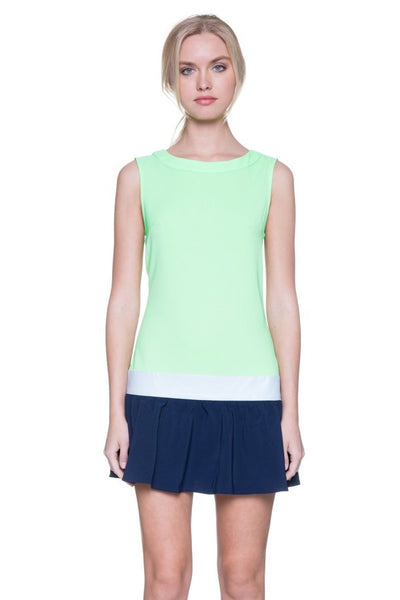 Navy Lime Green Tennis Dress Blue Labels Boutique