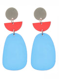 Blue Acrylic Metal Earrings Blue labels boutique