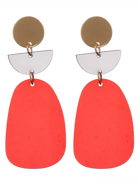 GOLD REDAcrylic Metal Earrings Blue labels boutique
