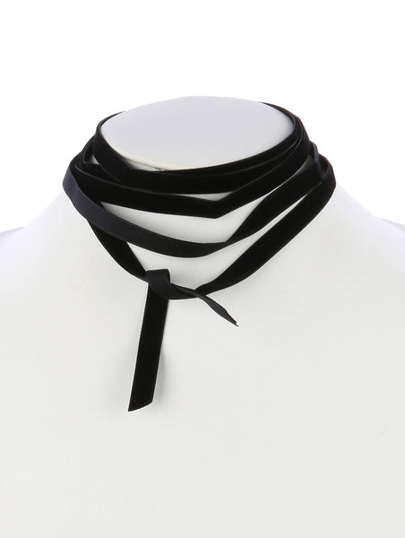 Velvet Wraparound Choker Necklace - Blue Labels Boutique - 1