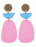 Pink Acrylic Metal Earrings Blue labels boutique