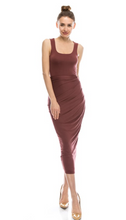 Load image into Gallery viewer, Womens-Mauve-High-Waisted-Maxi-Skirt-bluelabelsboutique