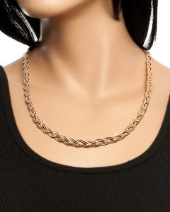 Twisted Herringbone Necklace - Blue Labels Boutique - 1