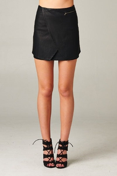 All Wrapped Up Leather Skirt - Blue Labels Boutique - 1