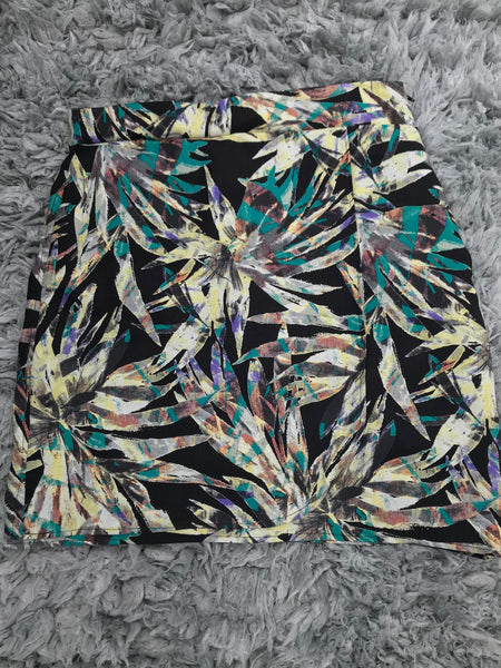 floral printed wrap mini skirt