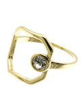 Open Circle Stone Ring - Blue Labels Boutique - 7