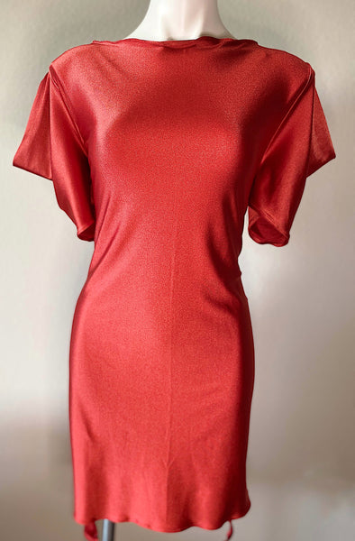 orange tshirt handmade dress