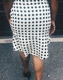 womens polka dot skirt blue labels boutique
