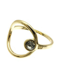 Open Circle Stone Ring - Blue Labels Boutique - 4