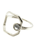 Open Circle Stone Ring - Blue Labels Boutique - 1