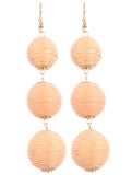 top dress boutique ball drop earrings blue labels boutique