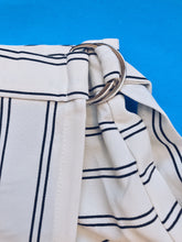 Load image into Gallery viewer, black and white stripe skort blue labels boutique