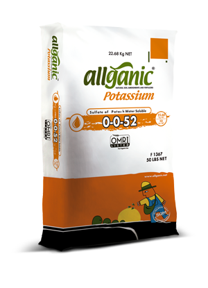 Allganic Potassium (Sulfate of Potash) - 50 lbs