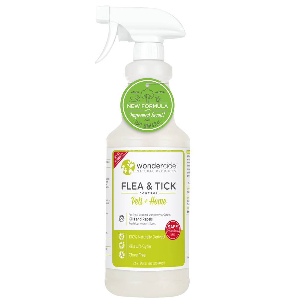 Wondercide Natural Flea & Tick Control - Fresh Lemongrass Scent - RTU - 32 fl. oz.