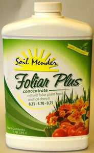 Soil Mender Foliar Plus Liquid Fertilizer - qt. - concentrate