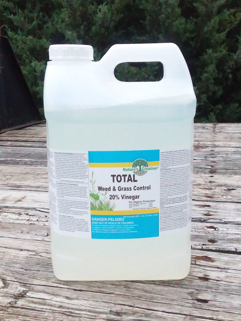 Nature's Creation Total Weed & Grass Control - 20% Vinegar (200 grain)  - 2 1/2 gal.