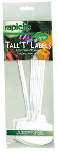 "Plant Labels - Tall ""T"" - Plastic"