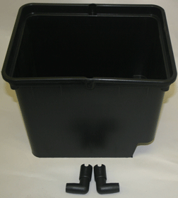 Bato Hydro Trough  -  11 liter - black