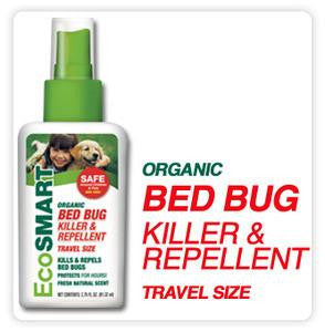 EcoSmart Organic Bed Bug Killer & Repellent Travel Size - 2.75 oz, Pump Spray