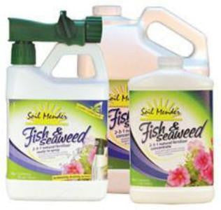 Soil Mender Fish & Sea Weed 2-3-1 Liquid Fertilizer -  2 qts. (64 fl.oz.) - RTS