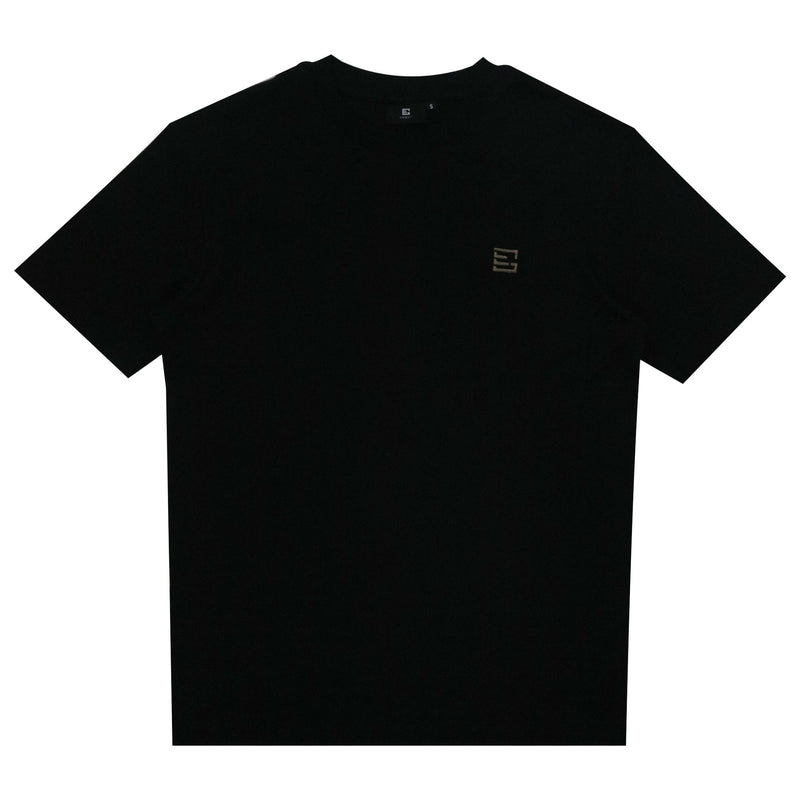 Gemsy-Bronze-Logo-Embroidery-T-shirt-Black-Front