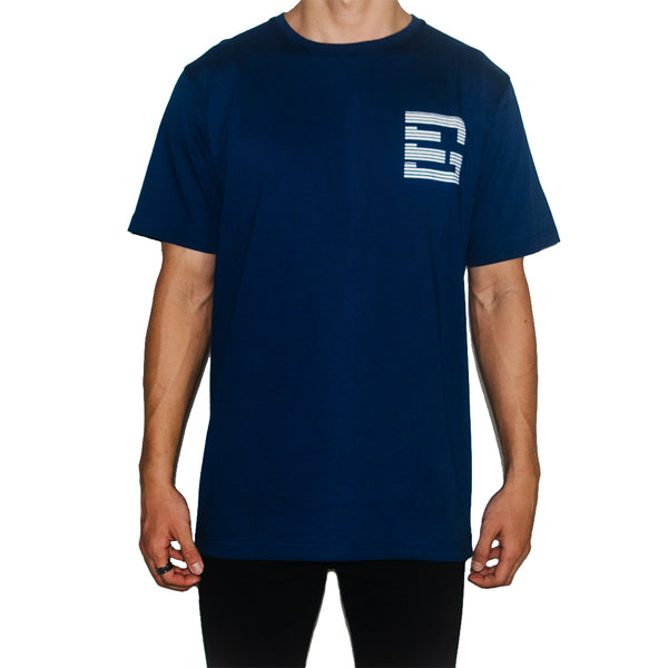 GEMSY TRICK EYE T-SHIRT [NAVY]