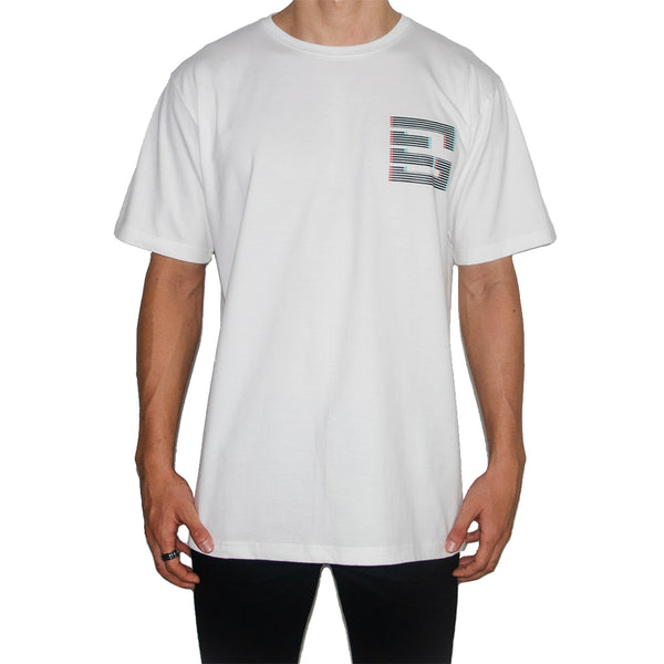 GEMSY TRICK EYE T-SHIRT [WHITE]