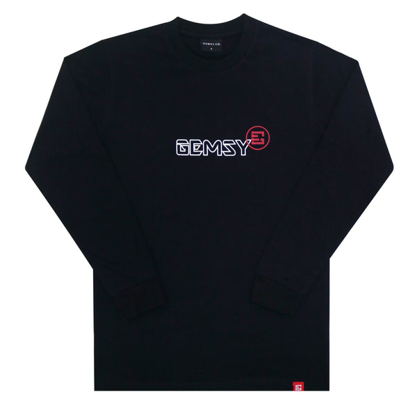 GEMSY GALERIA LONG SLEEVE T-SHIRT [BLACK]