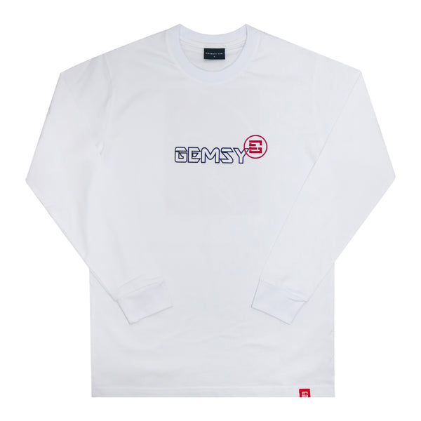 GEMSY GALERIA LONG SLEEVE T-SHIRT [WHITE]