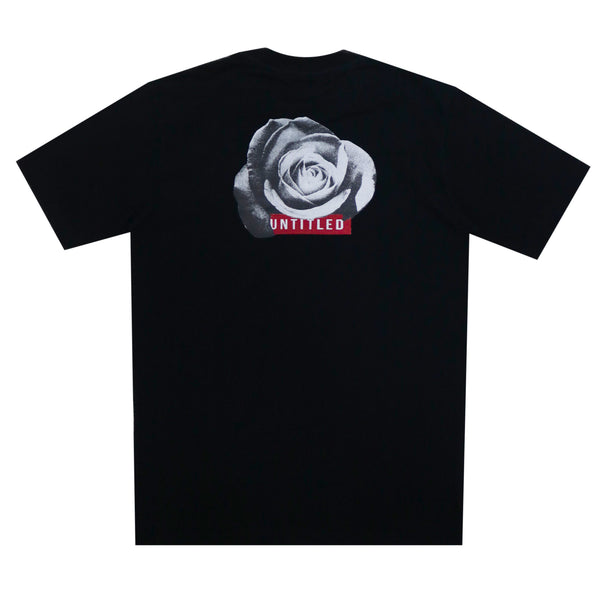 GEMSY UNTITLED ROSE T-SHIRT [BLACK]