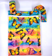 Butterfly Dreamtime - SMALL single nappy Wet Bag