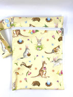 Sunny Side Up - SMALL single nappy Wet Bag