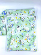 Velveteen Rabbit - SMALL single nappy Wet Bag
